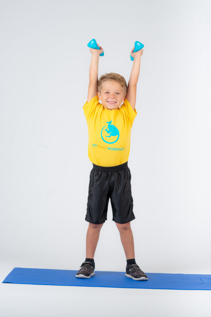 Cole is five years old and Michelle's son.  He modeled many of the exercises in the My First Workout® program.  Kids today need a childhood like similar to Cole's for better quality of life.